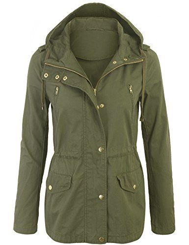 New Trending Outerwear: Kogmo Womens Zip Up Military Anorak Safari Jacket with Hoodie-L-GREEN. Kogmo Womens Zip Up Military Anorak Safari Jacket with Hoodie-L-GREEN   Special Offer: $28.99      166 Reviews Kogmo Womens Zip Up Military Anorak Safari Jacket with HoodieMachine Wash Cold Do Not Bleach, Trumble DryFeaturing functional front pockets with hidden waist...