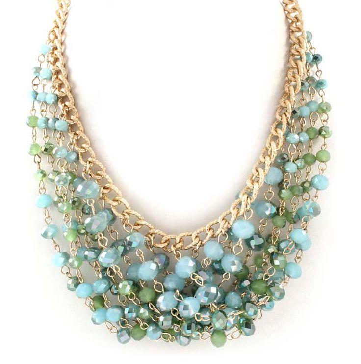 Crystal Bea Necklace in Teal Vitrail | Awesome Selection of Chic Fashion Jewelry…