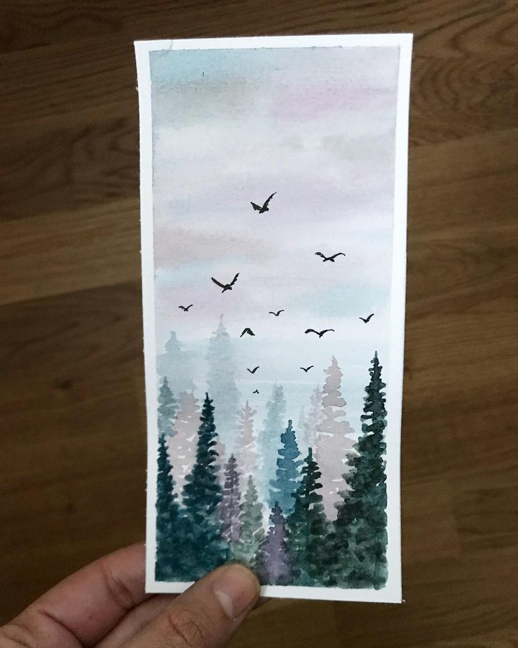 Love the way these pines turned out. Happy Sunday guys 💕 . . . . . #watercolor #watercolour #watercoloupainting #pinetrees #pines #nature… – Svetlana Novikov