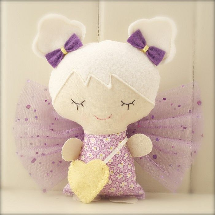 Tooth Fairy Doll - Violet - by pinkgrapefruit1 on madeit