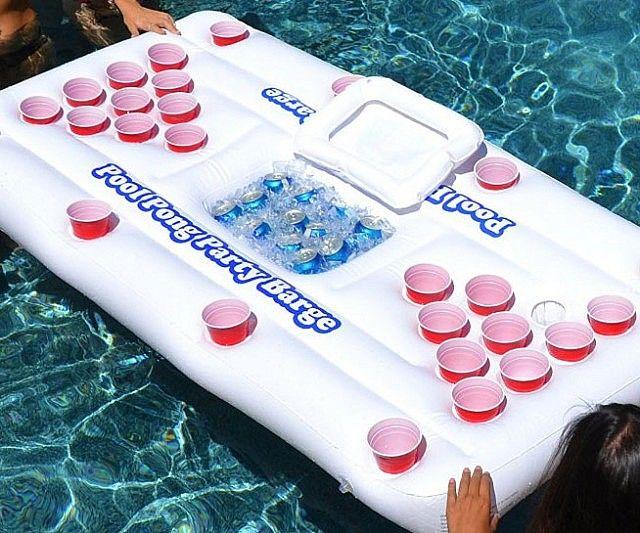 Floating Beer Pong Raft