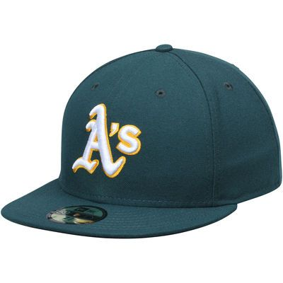 Oakland Athletics New Era Authentic Collection On-Field 59FIFTY Road Fitted  Hat - Green  1b95c9f34ce1