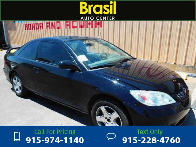 2004 Honda Civic EX coupe Black $5,400 130222 miles 915-974-1140  #Honda #Civic #used #cars #BrasilAutoCenter #ElPaso #TX #tapcars