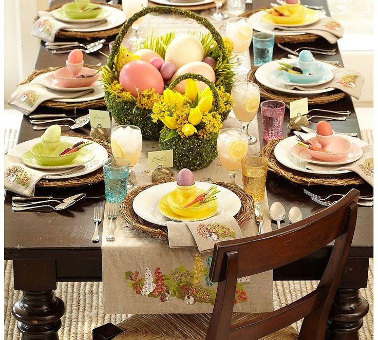 πασχαλινό τραπέζι, διακοσμηση πασχαλινου τραπεζιου, διακοσμηση πασχα