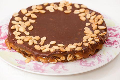 Suolapähkinä-suklaapiiras