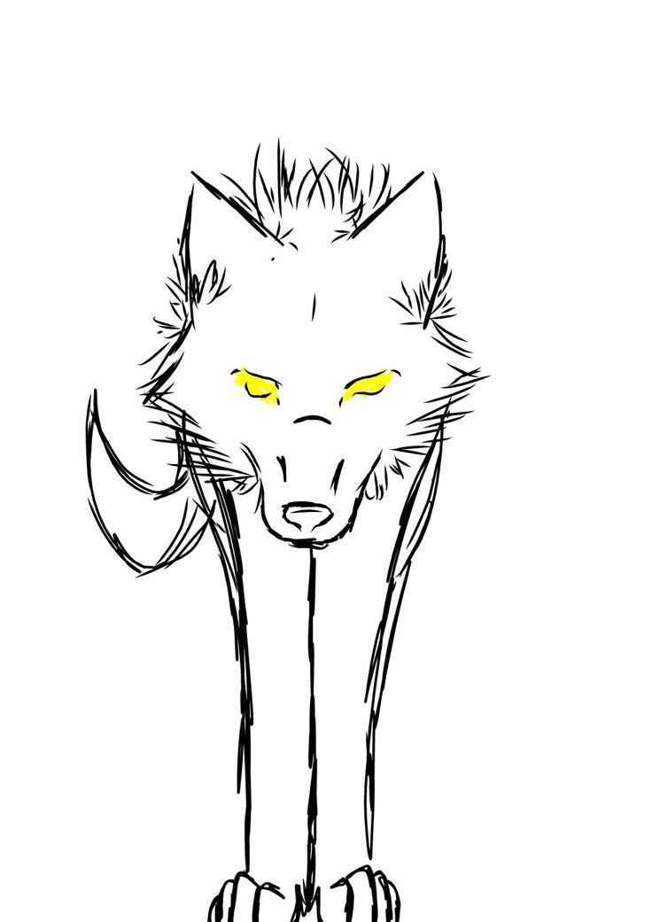 die besten 25 simple wolf drawing ideen auf pinterest