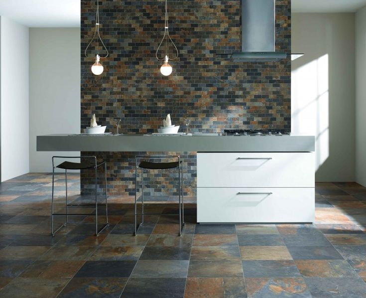 Natural Slate porcelain floor tile — Ceramic Tileworks
