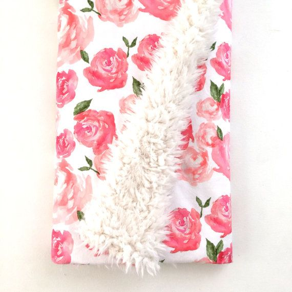 Hey, I found this really awesome Etsy listing at https://www.etsy.com/listing/271370867/baby-blanket-pink-peonies-the-cloud