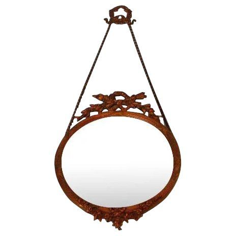 Antique French Louis XVI Style Hanging Brass Frame   – Antiques