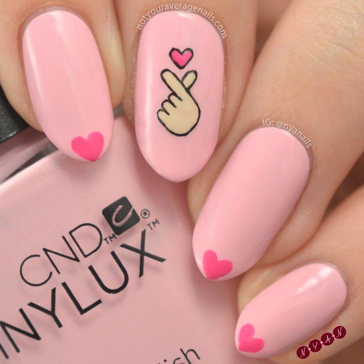 #FingerHearts Nail Art