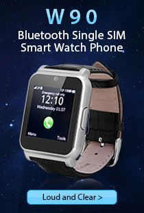 W90 Bluetooth Single SIM Smart Watch Phone
