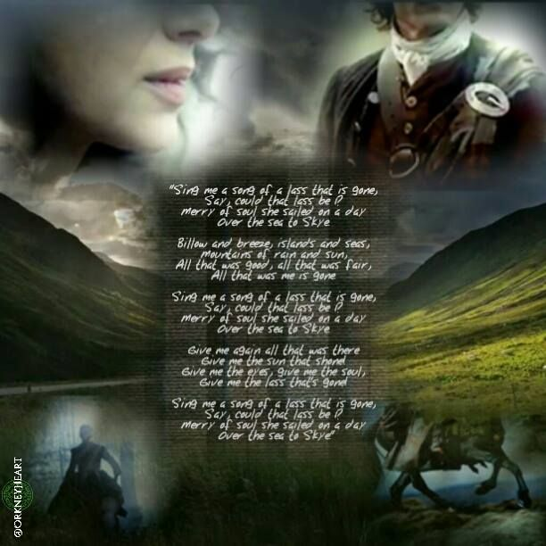 "OUTLANDER'S opening song, adapted from Robert Louis Stevenson's poem that was as such adapted from the tune ""The Skye Boat"""