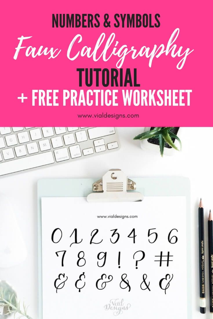 Learn How To Make Beautiful Numbers And Symbols Learn Calligraphy Free Printables Calligraphy For Beginners Calligraphy Tutorial [ 1102 x 735 Pixel ]