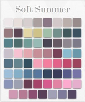 soft summer colour analysis - Google Search