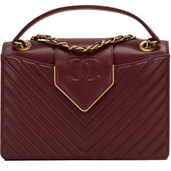Pre-Owned Chanel Paris In Rome Burgundy Sheepskin Flap Bag ($4,900) ❤ liked on Polyvore featuring bags, handbags, chanel, purses, сумки, red, handbag purse, pocket purse, red quilted handbag and man bag