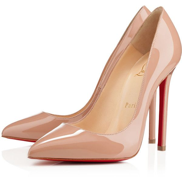 Christian Louboutin Pigalle (6.465 ARS) ❤ liked on Polyvore featuring shoes, pumps, heels, christian louboutin, louboutin, nude, high heels stilettos, pointed toe high heel pumps, patent leather pumps y nude high heel pumps