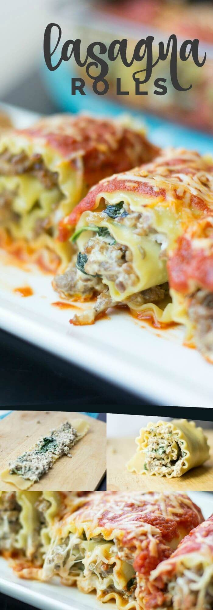 Sausage, Spinach & Cream Cheese Lasagna Rolls Recipe!