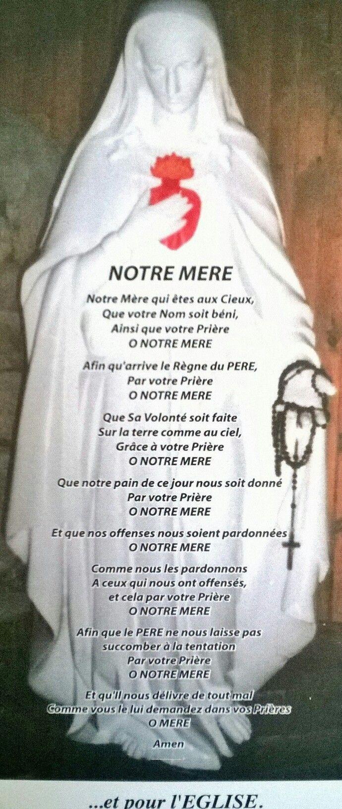 Prière pour l' Église. Prière reçue du ciel le 27 août 1995 en lien avec Lourdes dans la mouvence de Marie Médiatrice et Corédemptrice de la vocation de la France au service de l' Église.