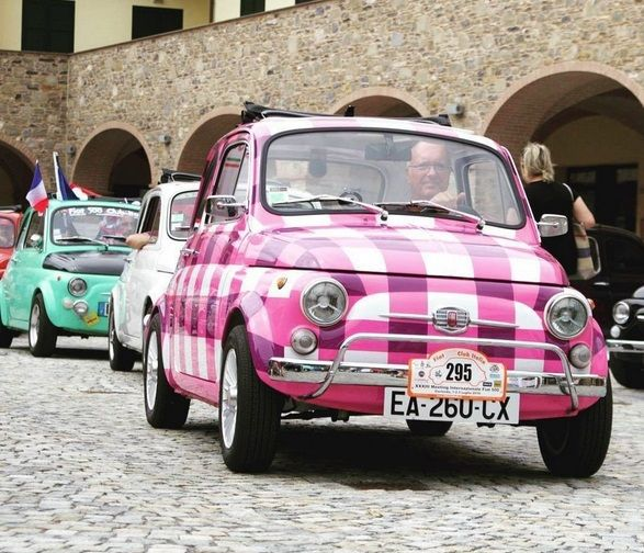 Fiat 500 Meeting in Garlenda Italy More