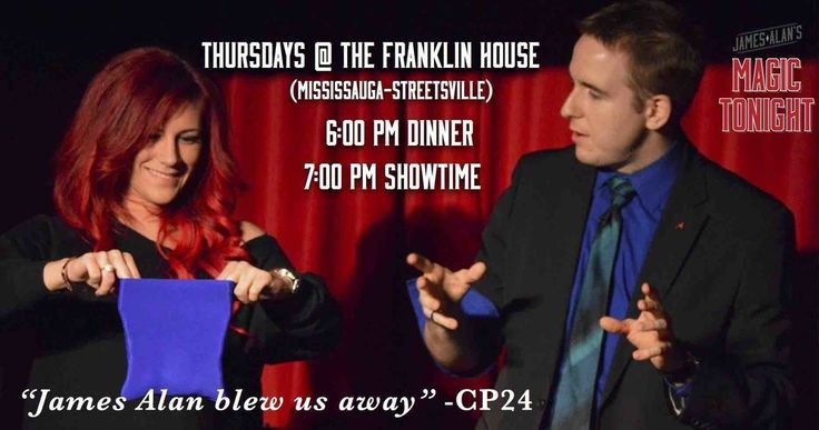 Magic Tonight - Thursday nights  at The Franklin House in Streetsville