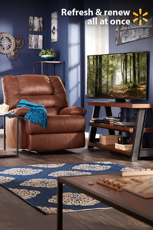 "Redefine your living room & put the fun back in tax refund with these great electronics and furnishing ideas from Walmart. It's a great time of year to kick back in a deluxe recliner and enjoy shows & movies on a Samsung 50"" 4K TV. Center your room around a stylish coffee table and show off your new electronics with a 70"" TV stand.  Looking for tips on the best ways to spend your refund? Get low prices on home items and everything else on your tax time shopping wish list at Walmart."