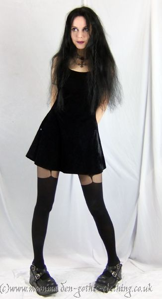 Little Black Widow Mini Dress by Moonmaiden Gothic Clothing UK