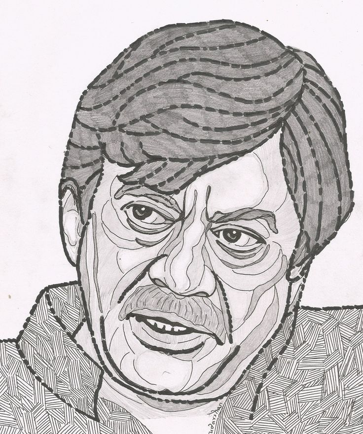 ANANT NAG Person sketch, Sketches, Male sketch
