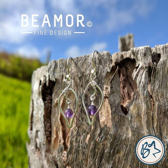 Something new. Leaf inspired earring design. They can have any of our usual gemstones incorporated into the design. Check them out in our Etsy store. #amethyst #earrings #handmade #etsystore #beamorfinedesign #findamaker Check out this item in my Etsy shop https://www.etsy.com/au/listing/542861867/amethyst-earrings-leaf-design-boho