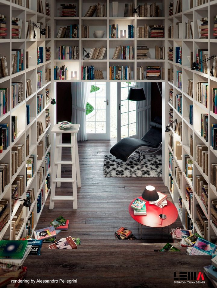 Expand book-collection into a genuine, small-scale library - I'm well on my way.