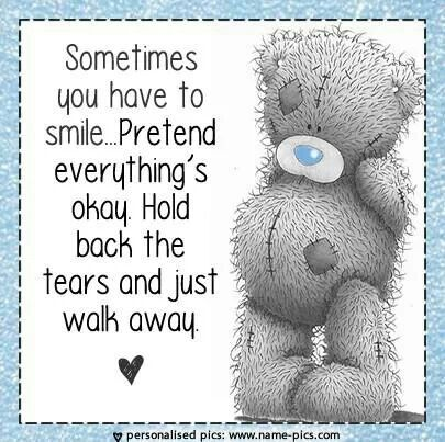 Sometimes you have to smile...and just walk away. ♡ Tatty Teddy  tjn
