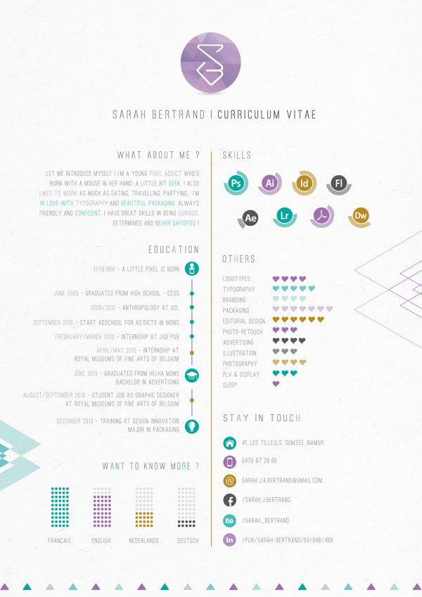 20 best Inspiring Infographic Resumes images on Pinterest Resume - graphic design student resume