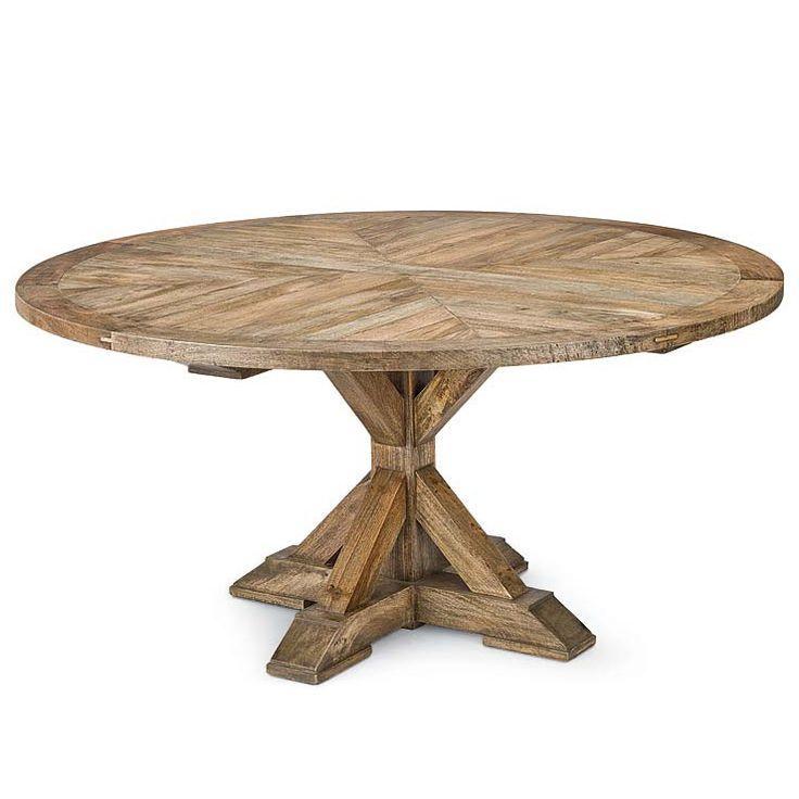 Regina Andrew Parquet Round Dining Table Rustic