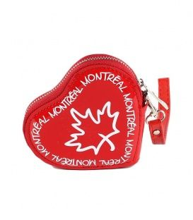 Red Montreal Heart Coin Purse