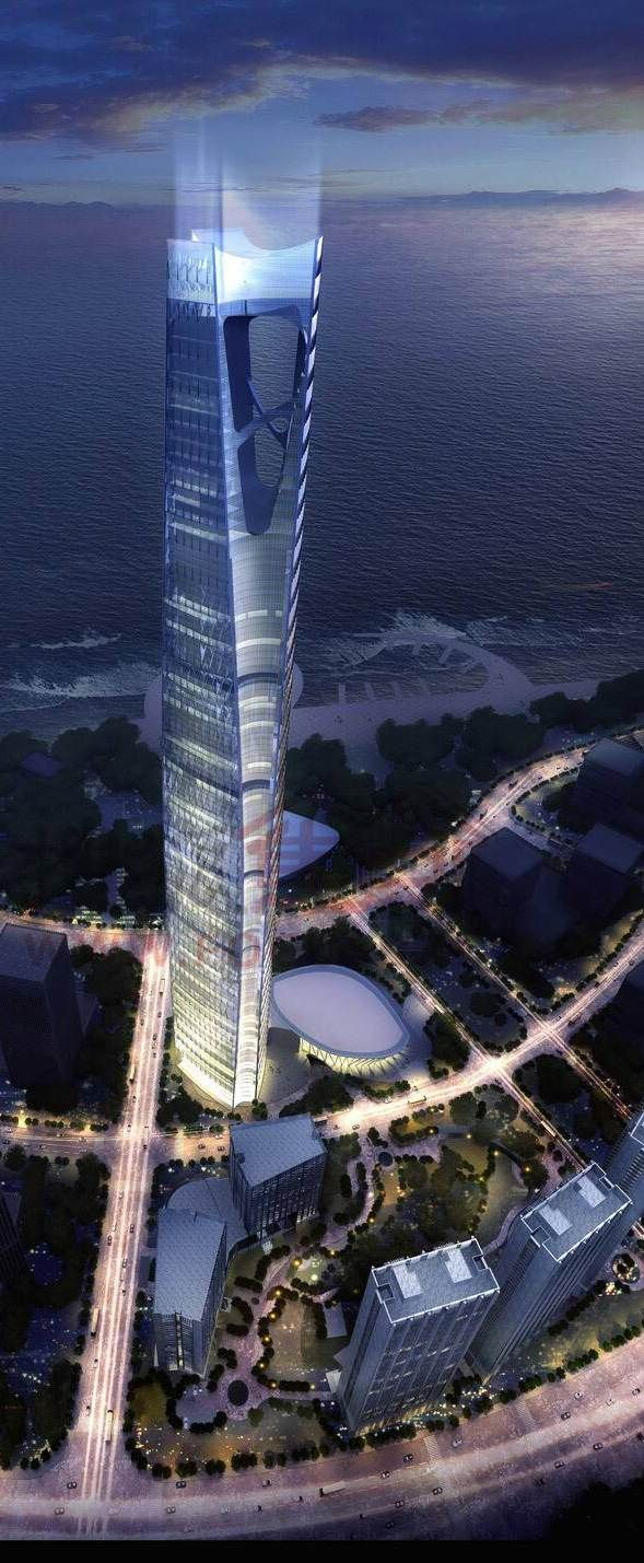 Dalian Greenland Center, Dalian, China by  HOK Architects :: 88 floors, height 518m #architecture ☮k☮
