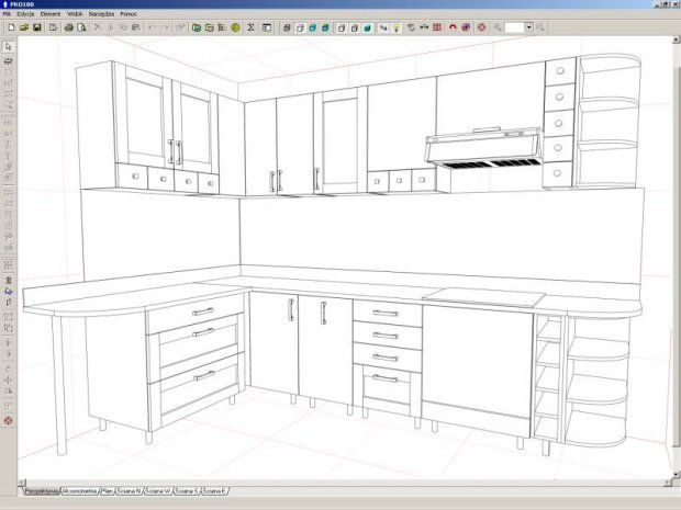 Pro100 kitchen design software interior and furniture design software for kitchen office Kitchen design software for beginners