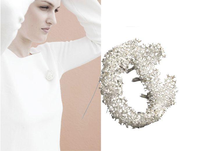 """Elisabeth Habig """"radici dell´anima"""" brooch 2014 material: silver"""