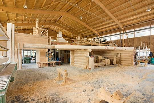 Modern log houses can use bigger logs than the old ones for Modern bauen bau gmbh
