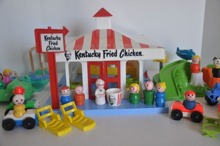 Seriously?!  Vintage Fisher Price Little People goes to Kentucky Fried Chicken original box #FisherPriceKentuckyFriedChickenNo600
