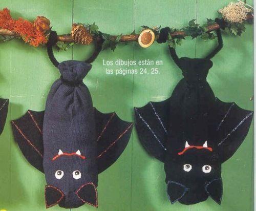 vleermuis knutselen met sokken
