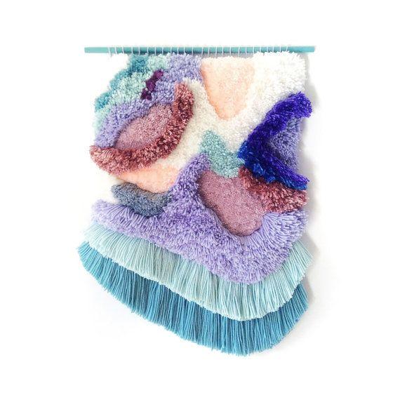 Furry paysage n.4 / / tissés à la main tapisserie murale suspendue tissage fibre Art Textile Wall Art tissé Home Decor Jujujust