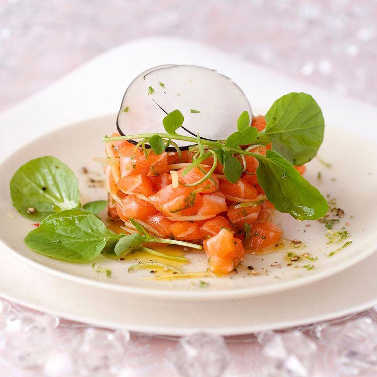 Découvrez la recette du tartare de saumon au gingembre