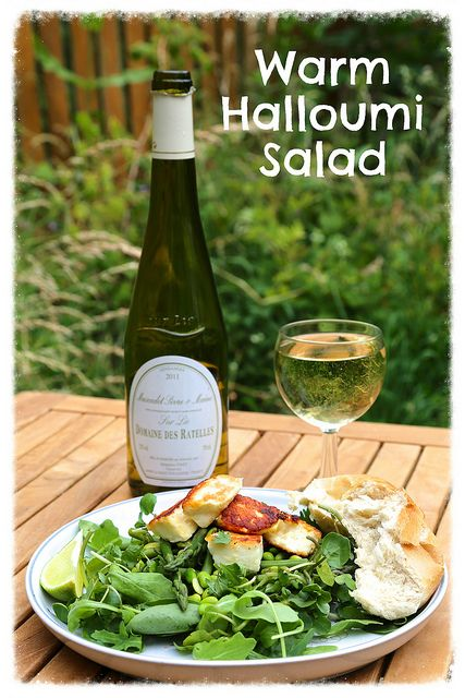 Warm halloumi salad with lime juice and green veg by Rachel Cotterill, via Flickr