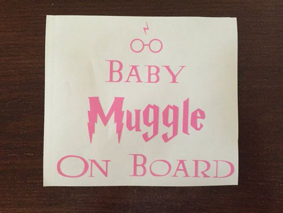 Harry Potter Baby Muggle On Board Vinyl Decal by LiveLifeImagined