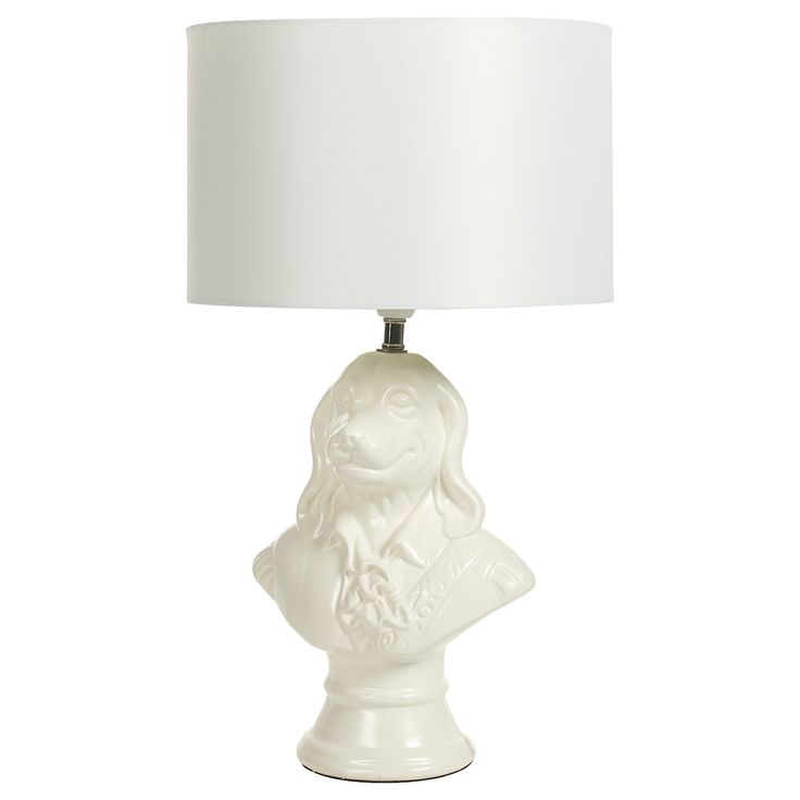 George Home Dog Bust Lamp