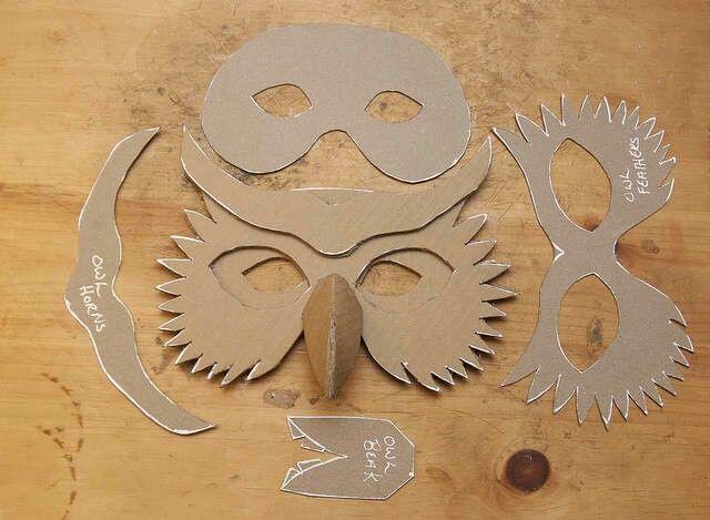 Owl mask pattern