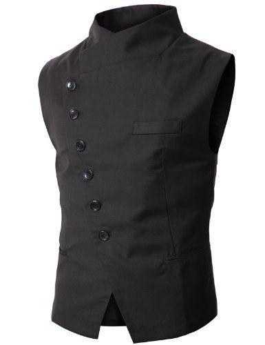Doublju Mens Slim Vest  with Asymmetry Button BLACK (US-M) Doublju,http://www.amazon.com/dp/B0050MZOO0/ref=cm_sw_r_pi_dp_fjw-sb0SXPAY6T27