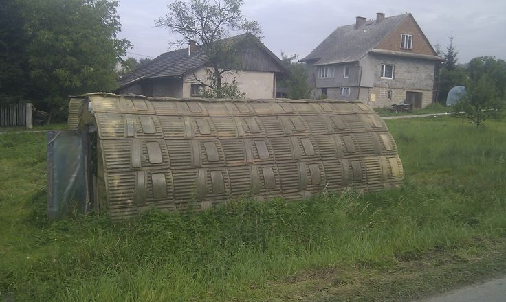 Tomato greenhouse made of old riot police shields.  #security #services #warsaw #poland #close #protection