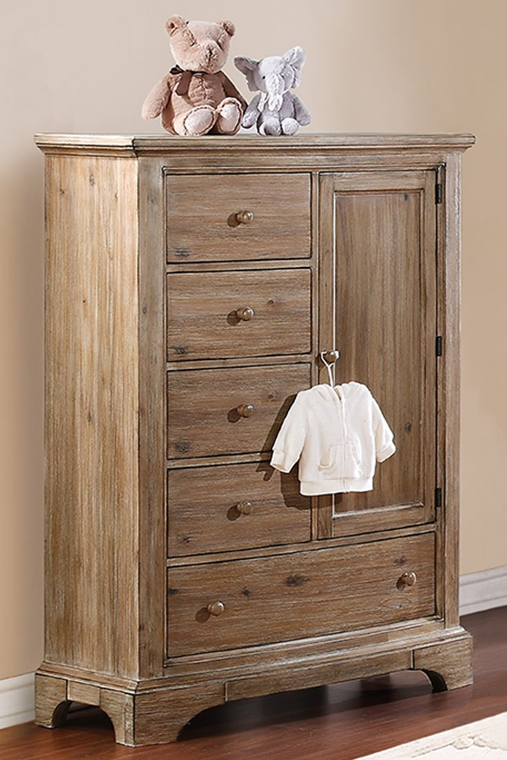 The Bertini Pembrooke Chifforobe Features A Unique Natural Rustic Finish And Curved Top Bottom Panel