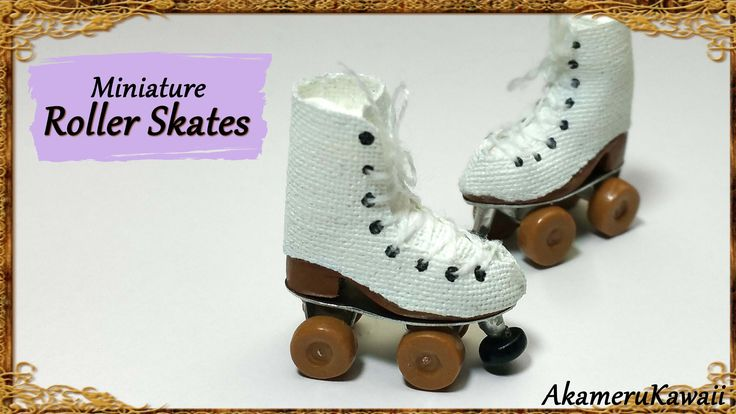 Hi guys! Today we're making these cute doll size roller skates ^^ Good to know: I work in 1:12 scale, but you can make them in any size you want and add head...