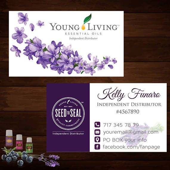 Young Living Business Card Template: The 25+ Best Ideas About Young Living Business Cards On
